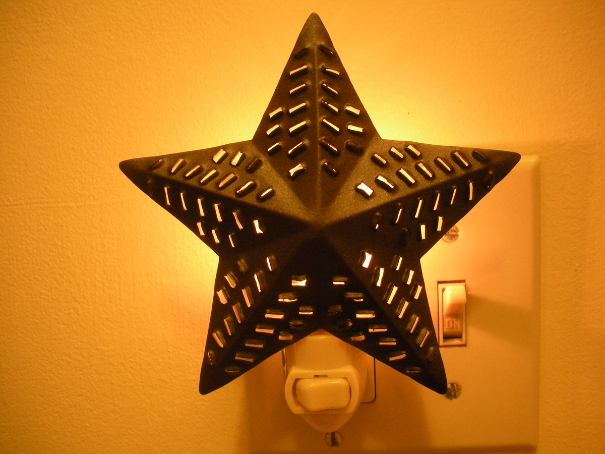 Punched Star Night Light - Click to Enlarge Photo